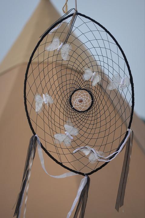 Dreamcatcher, Tipi, Symbol, Indians, Feathers