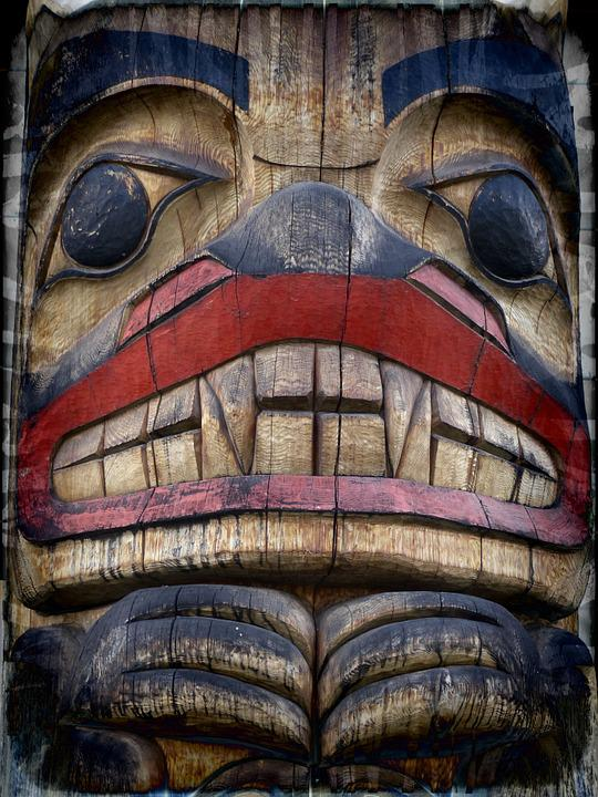 Free Photo Symbol Native Art Grunge Totem Pole Wooden Pole Max Pixel