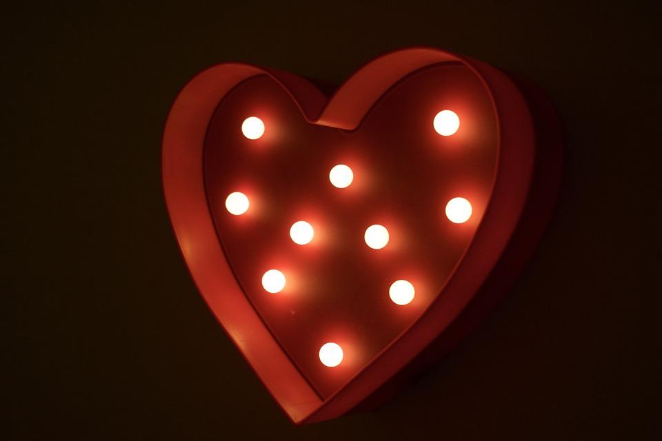 Free Photo Symbol Of Love Light John 3 16 Heart Love Light Max Pixel