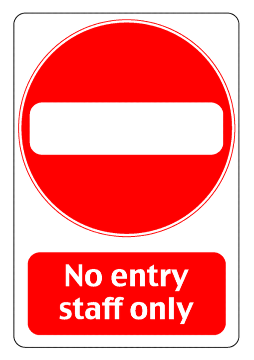 Entry, Staff, Only, Prohibited, Others, Sign, Symbol