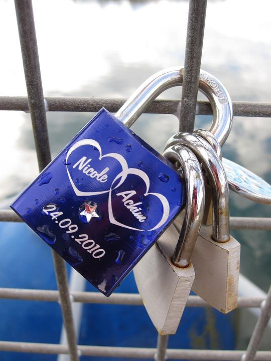 Padlock, Snap Lock, Love, Symbol, Connectedness