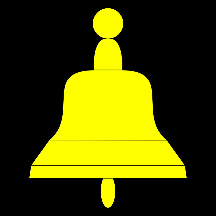 Bell, Yellow, Symbol, Graphic, Pictogram, Design, Sign