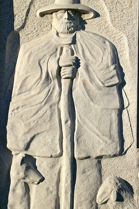 Relief, Stone, Symbol, Shepherd, Schäfer