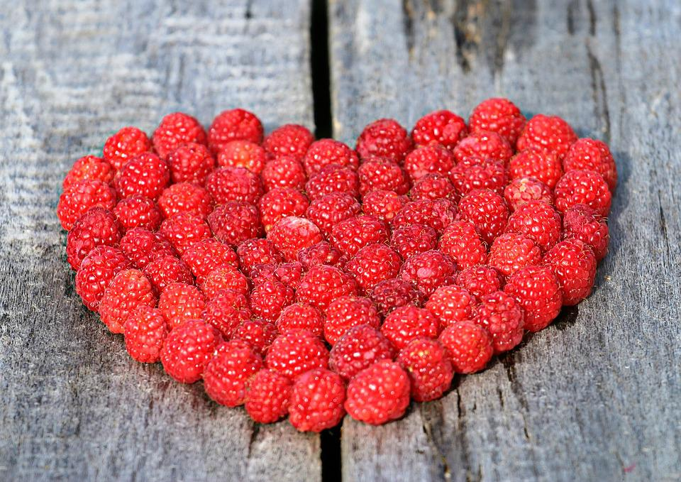 Heart, Raspberry, Board, Love, Ripe, Berry, Red, Symbol