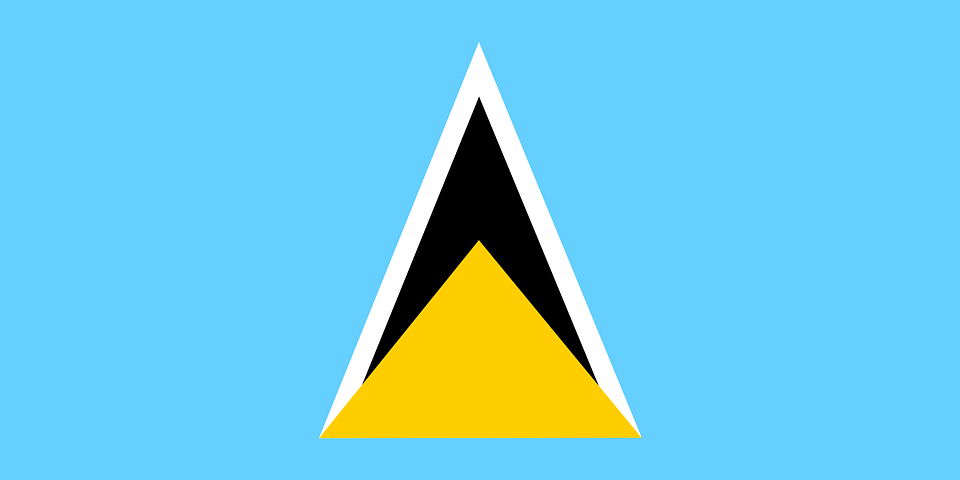 Saint Lucia, Flag, National, Symbol, Nation, Country