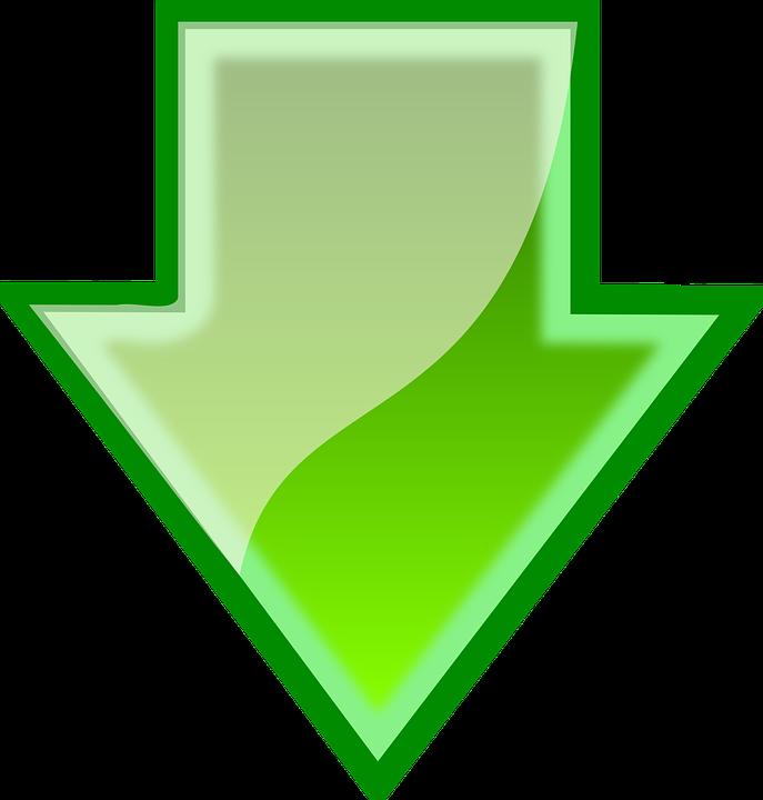 Arrow, Green, Down, Download, Sign, Symbol, Icon