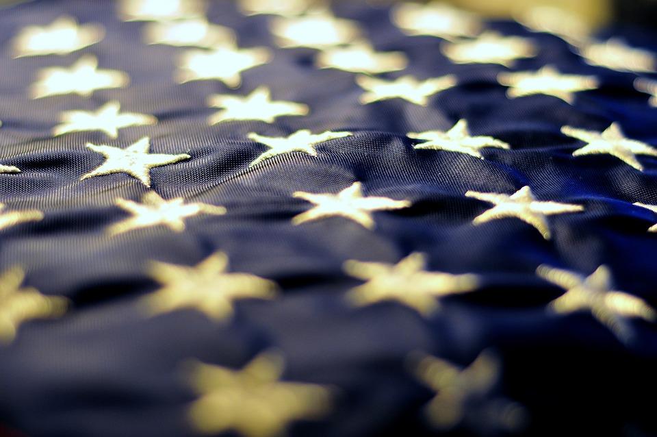 Stars, Blue, American Flag, United States, Symbol