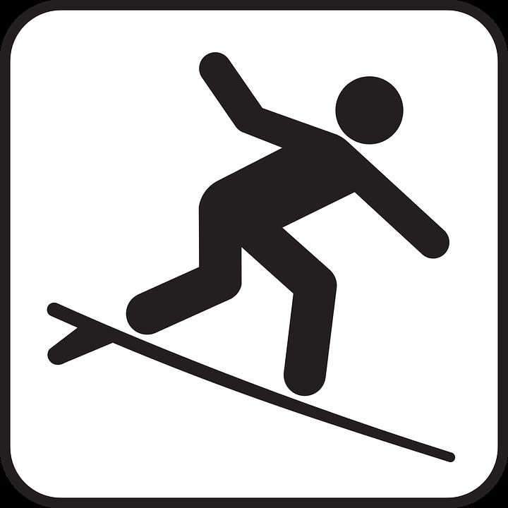 Surfing, Surf, Surfer, Surfboard, Sign, Symbol