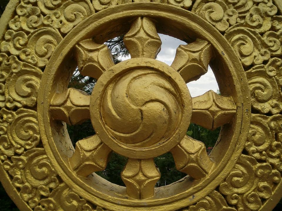 Gold, Monastery, Tibetan, India, Dharma, Symbol
