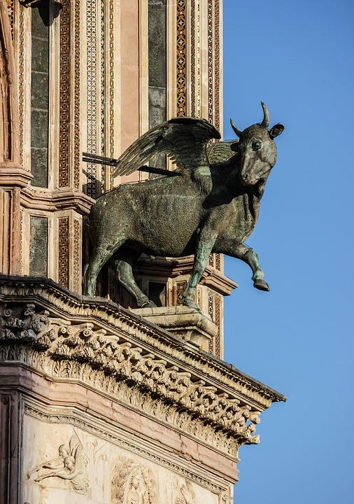 Statue, Bull, Bestiary, Symbolic