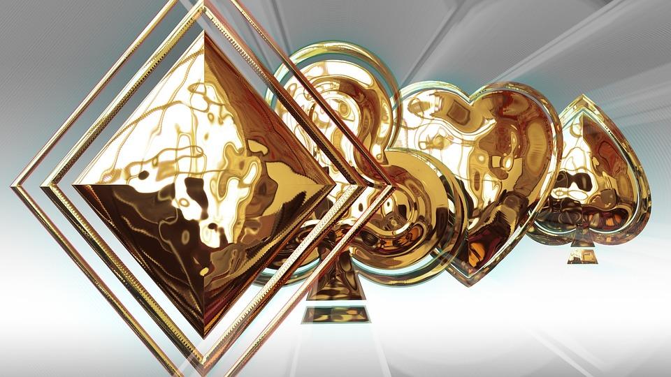 Symbols Card, Symbol, Gold, Card Games, Poker, 3d