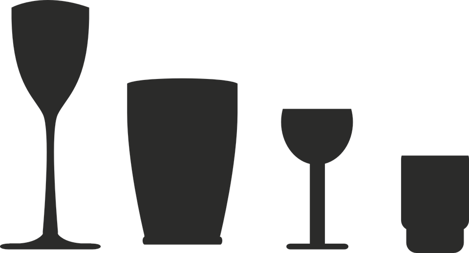 Glass, Silhouettes, Chalice, Shots, Symbols, Icons