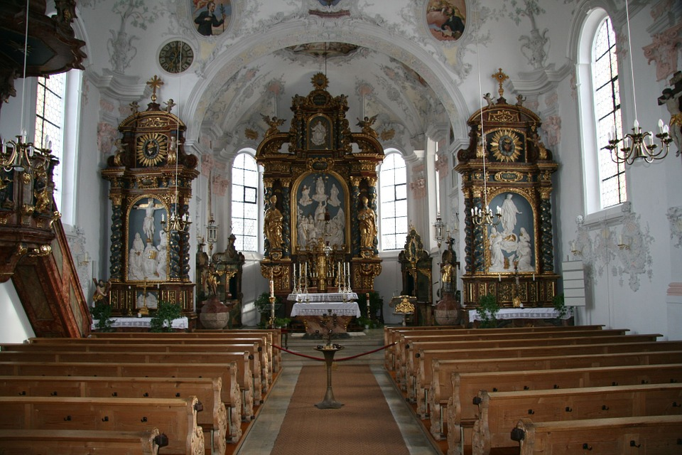 Church, Germany, Bavaria, Symbols, Religion, Christian