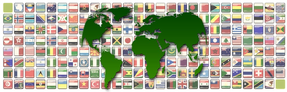 Continents, Flags, Symbols, Earth, World, Global