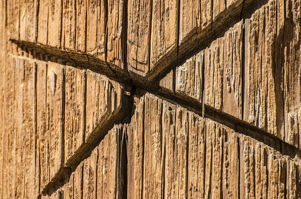 Wood Post, X In Wood, Symbols, Symbol, X, Post