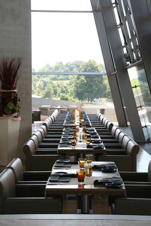 Restaurant, Bmw Welt, Symmetry