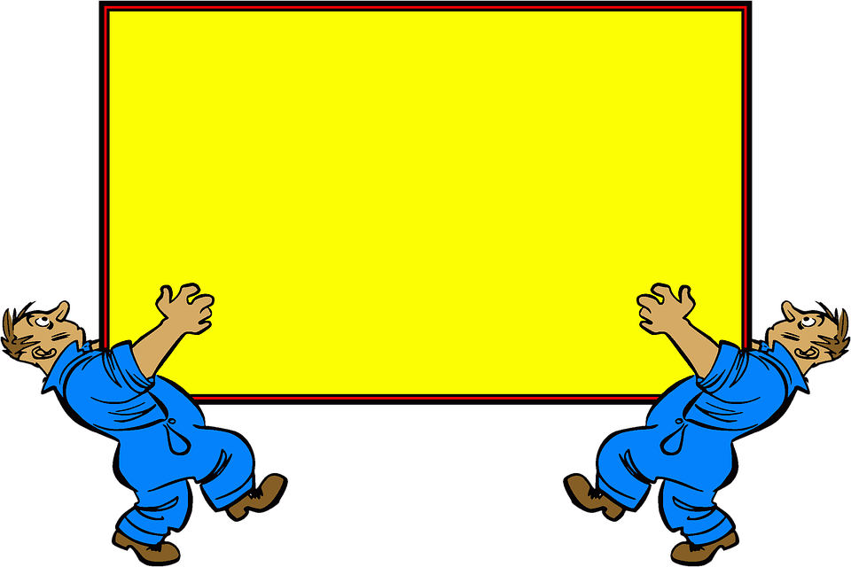 Message, Board, Twins, Sign, Cartoon, Symmetry, Carry