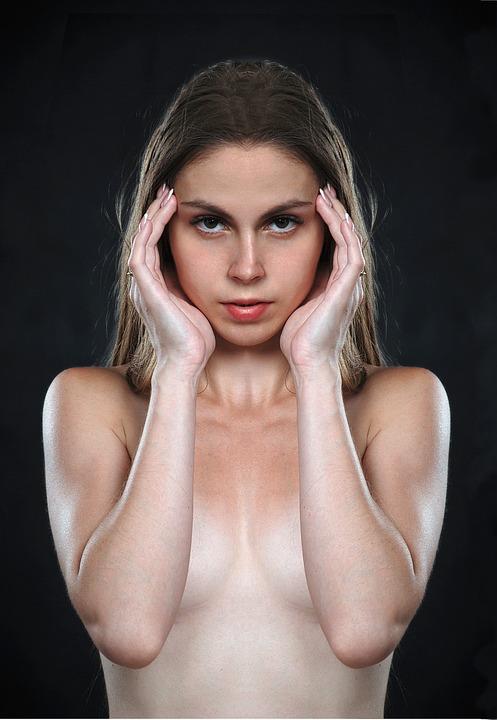 Girl, Portrait, Symmetry, Sister, Olya