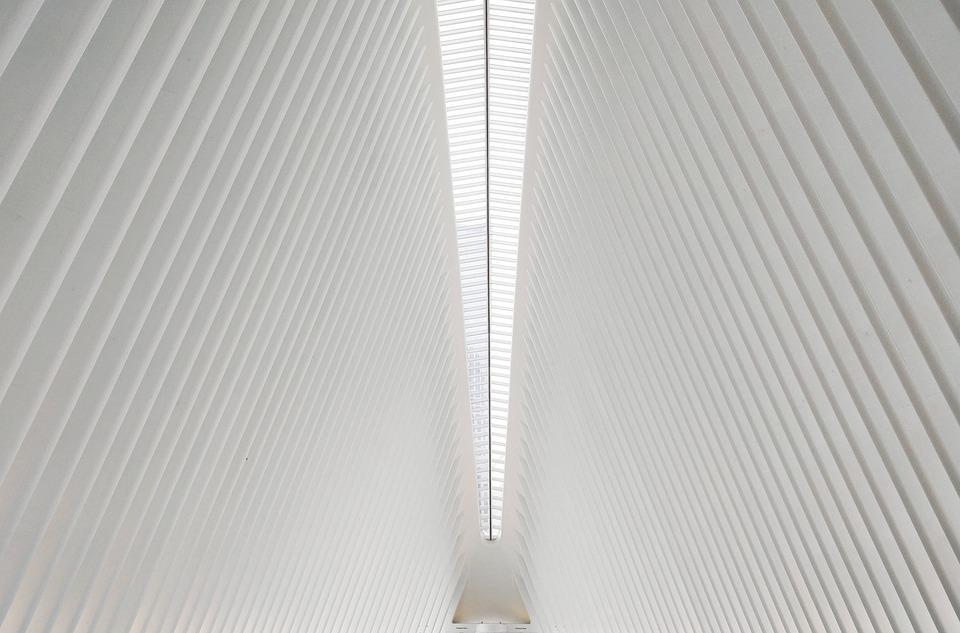 Lines, Symmetry, Art, Architecture, Indoor, White