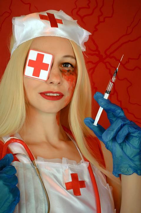 Halloween, Cosplay, Nurse, Syringe, Nurse Costume
