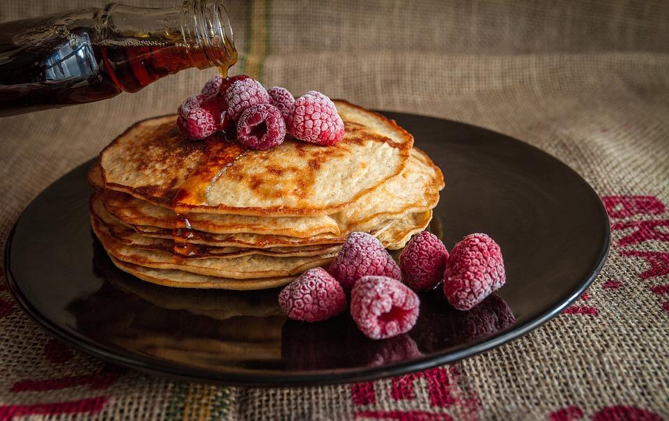 Pancakes, Maple, Syrup, Sweet, Food, Breakfast