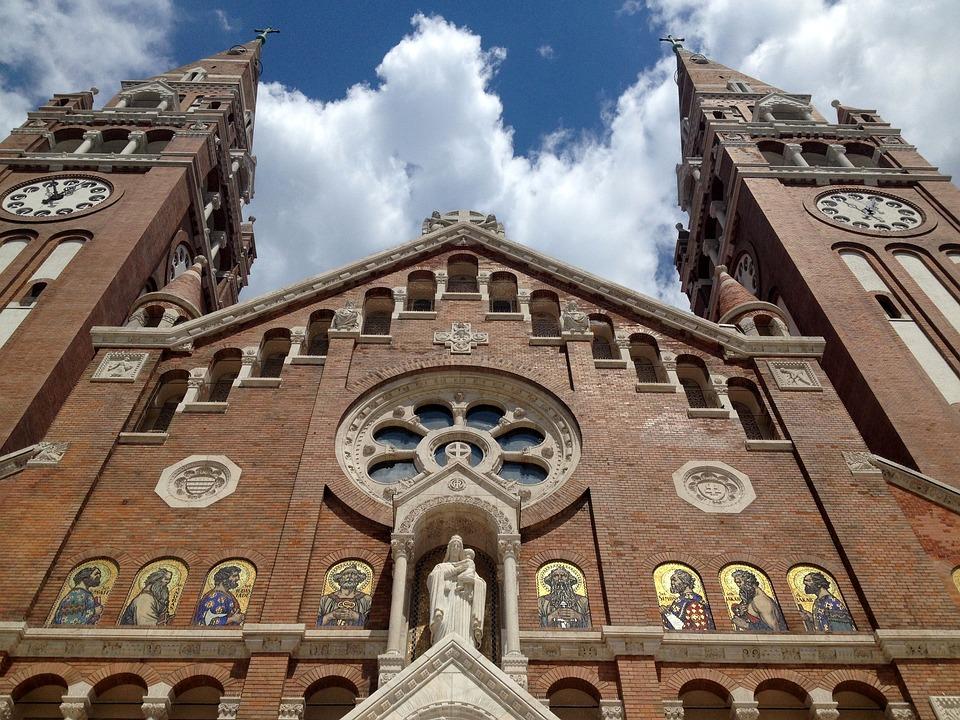 Szeged Hungary, Szeged Cathedral, Blue Sky