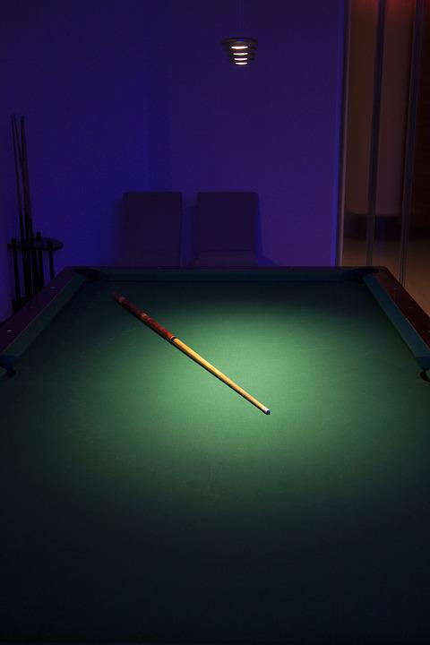 Billiards, Game, Table, Green, Broadcloth