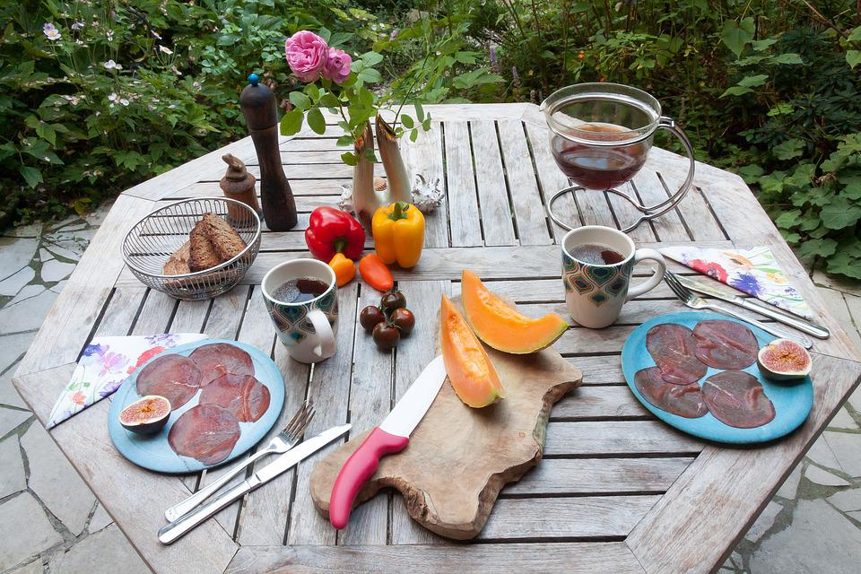 Table, Breakfast, Garden, In The Free, Summer, Cover