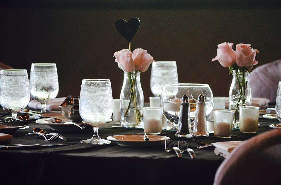 Wedding Reception, Dinner, Formal, Celebration, Table