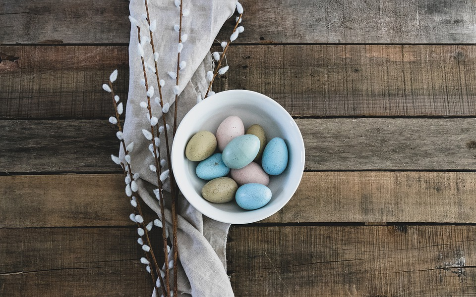 Eggs, Easter, Bowl, Spring, Table