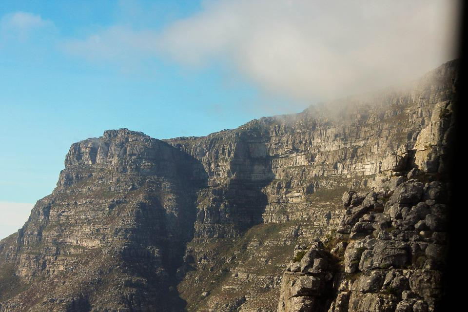 Table Mountain, Africa, Mountain, Cloud, Cape, Nature