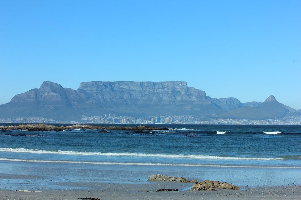 Table Mountain, Seaside, Cape Town, Sand, Sea, Coast