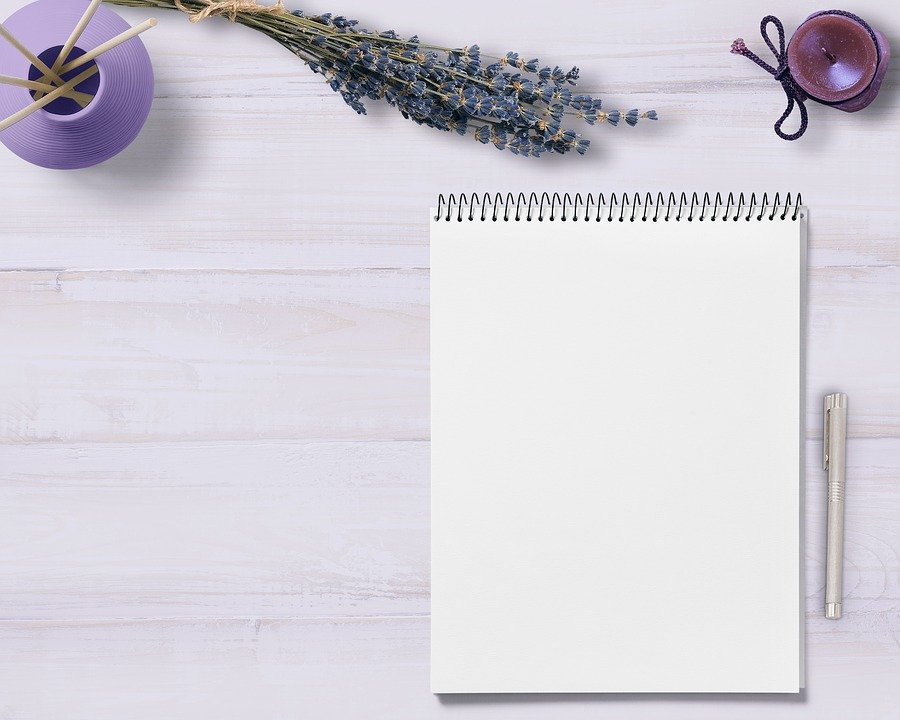 Notepad, Table, Flowers, Candle, Decoration, Note