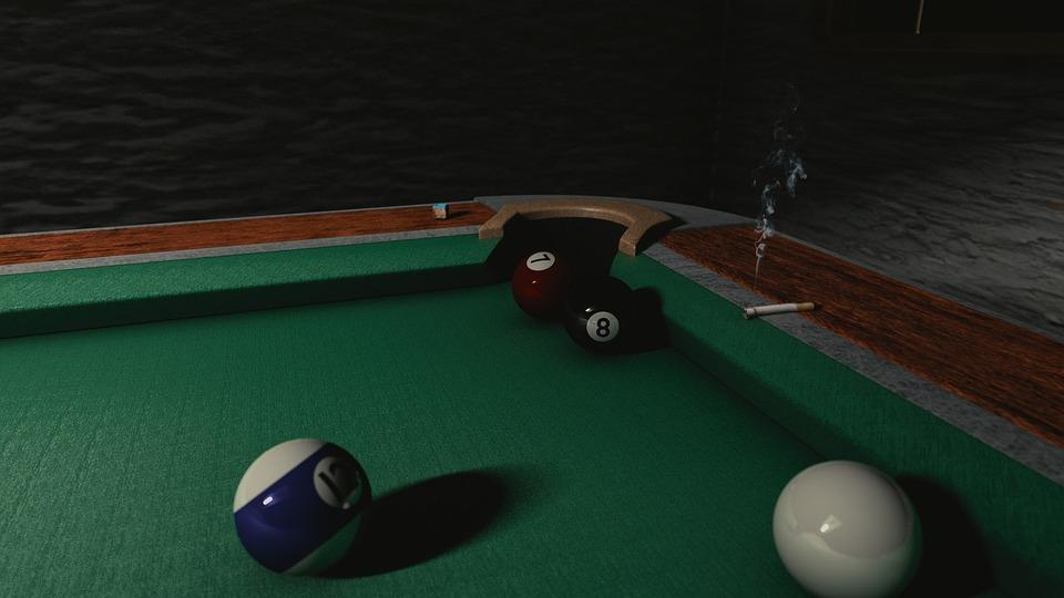 Billiards, Pool, Table, Pool Table, Cigarette, Chalk
