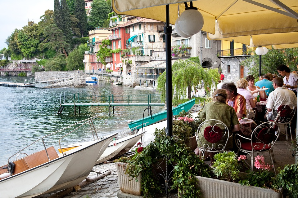 Restaurant, Cafe, Outdoor, Italy, Table, Lunch