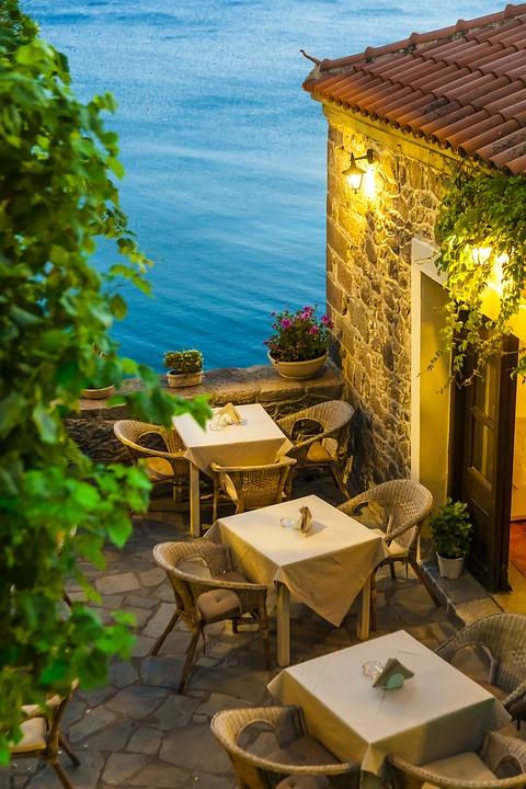 Restaurant, Food, Table, Sea, Plant, Traditional