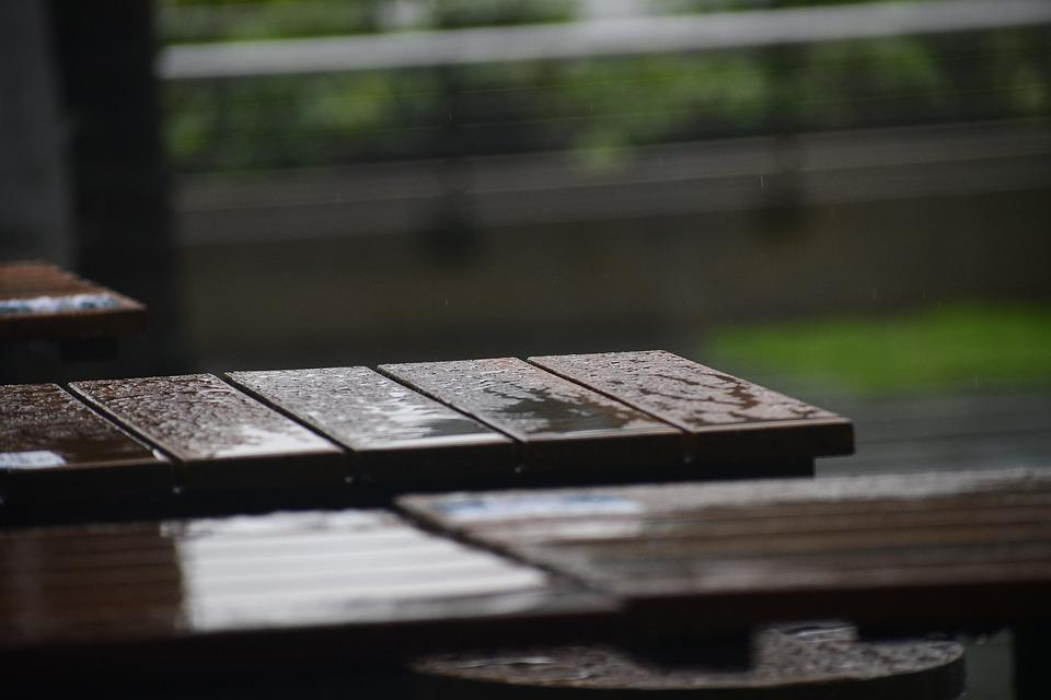 Background, Brown, Design, Rain, Table, Wood, Wooden