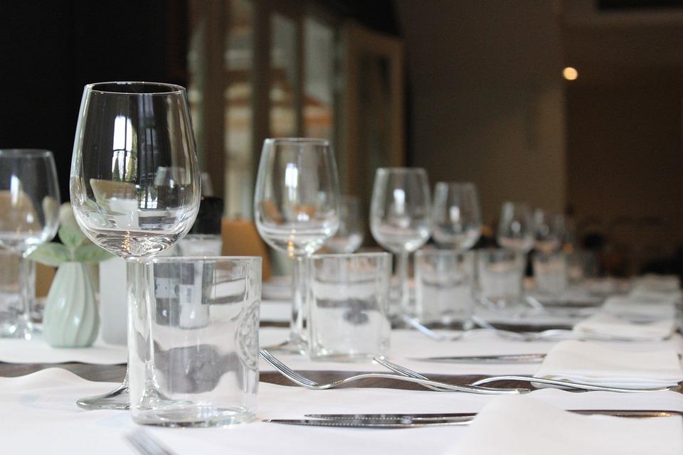 Business Diner, Table, Diner, Restaurant, Table Setting