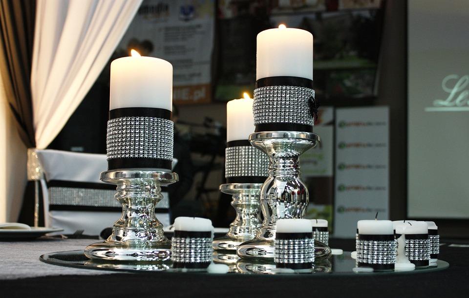 Candles, Fire, Wax, Tablecloth, Knot, Light