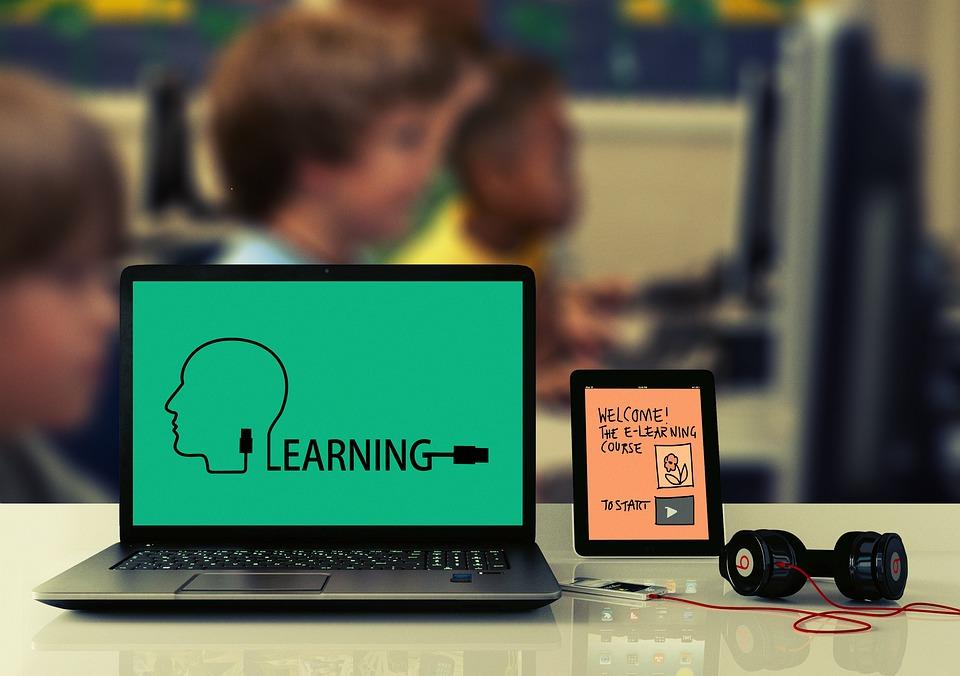 Learn, School, Laptop, Tablet, Headphones, Children
