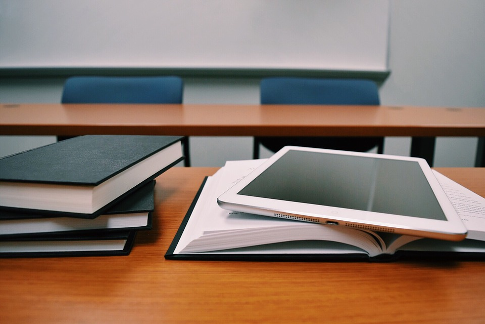 Tablet, Books, Education, Desk, Classroom, School