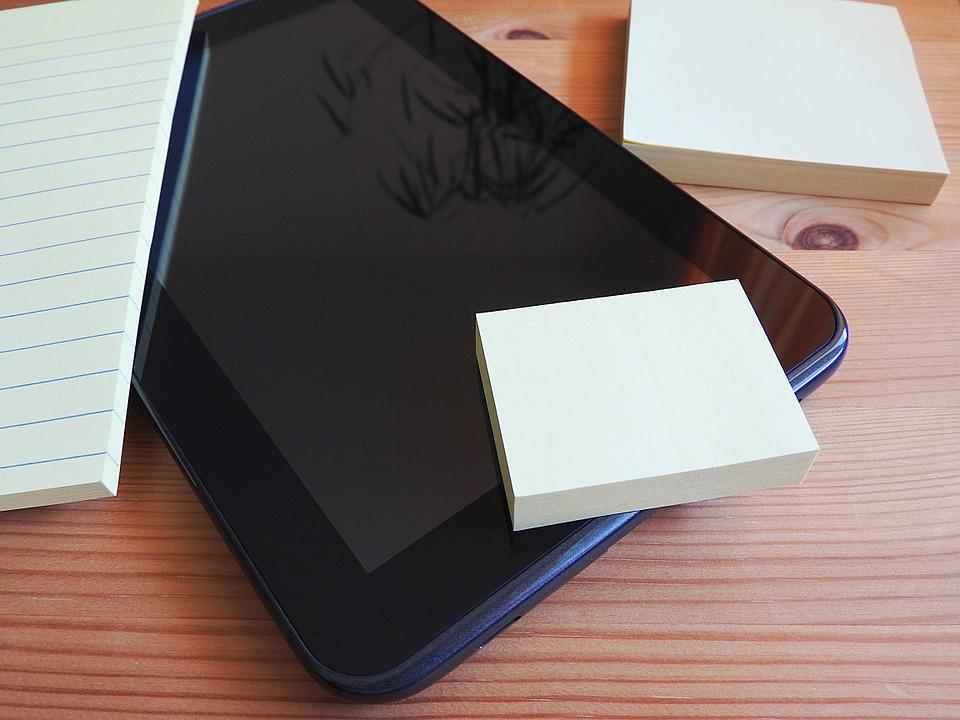 Tablet, Postit, Stickies, Adhesive Note