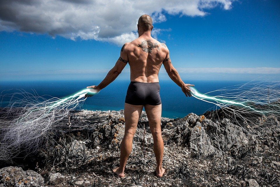 Muscle, Fit, Guy, Shirtless, Back, Mountain, Taco Fleur