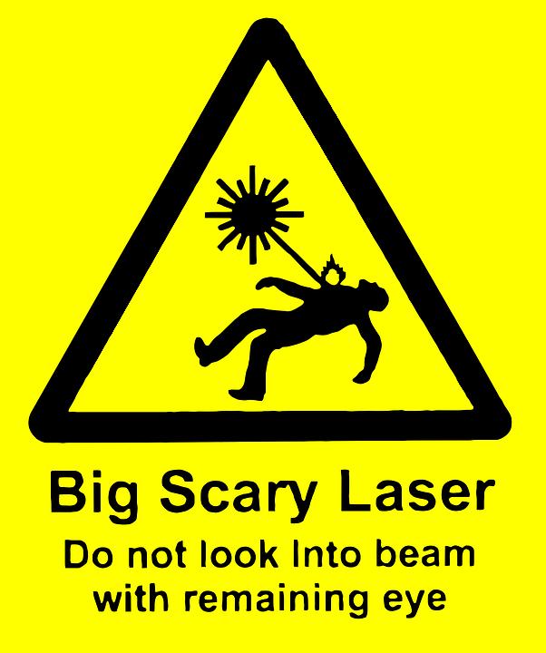 Laser, Rays, Danger, Tag, Sign, Symbol, Dangerous