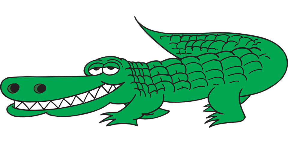 Alligator, View, Side, Tail, Teeth, Grinning, Nostrils