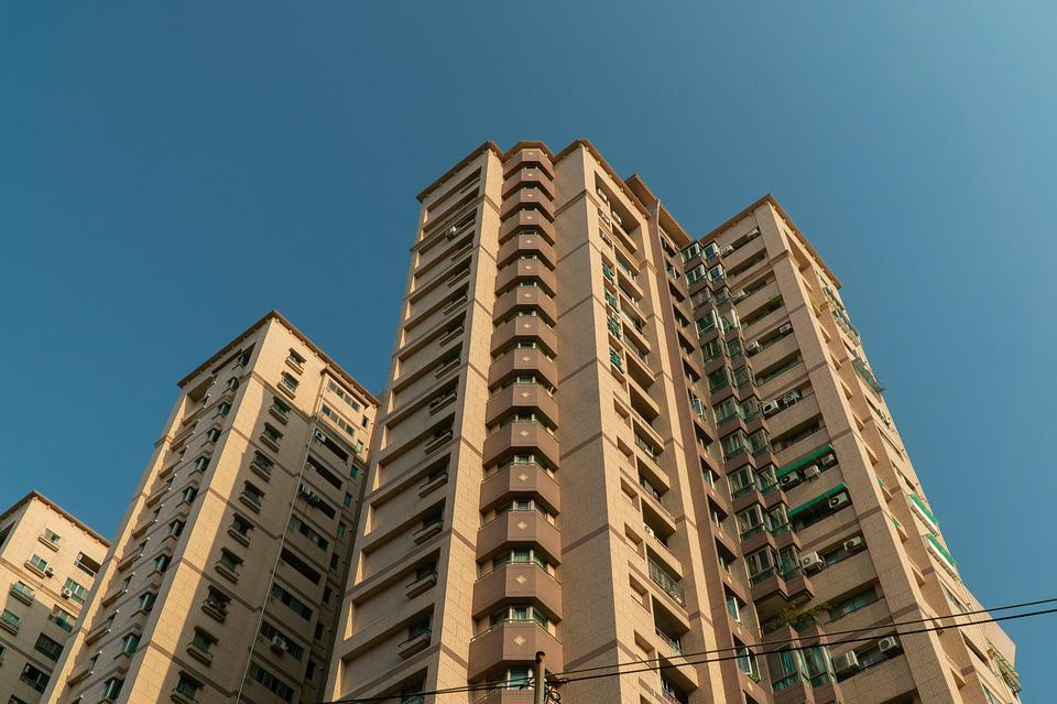 Taiwan, Tainan, Asia, Building, Blue Sky