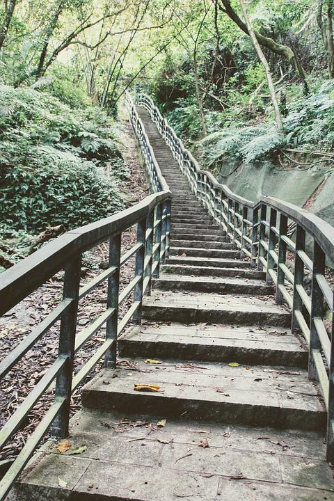 Stairs, Staircase, Gradually, Ramp Up Of, Taiwan