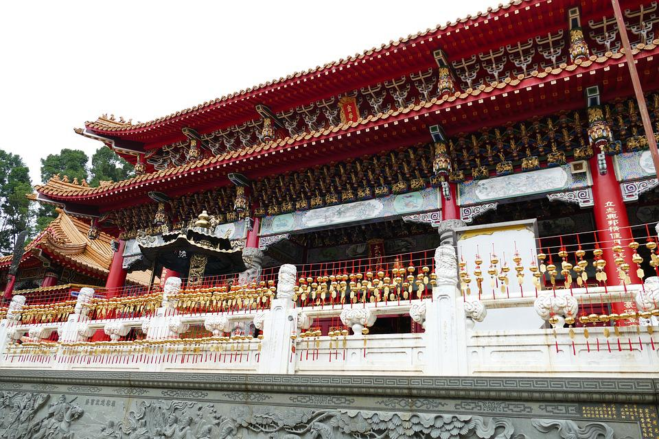 Temple, Buddhism, Taoism, Taiwan, China, Gods, Roof