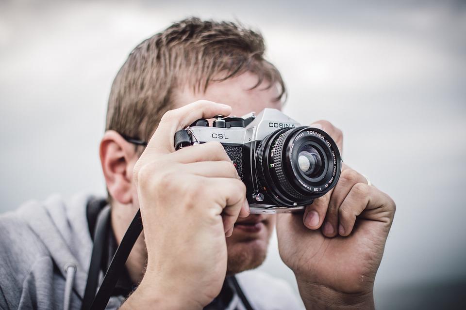 Camera, Lens, Man, Person, Photographer, Taking Photo