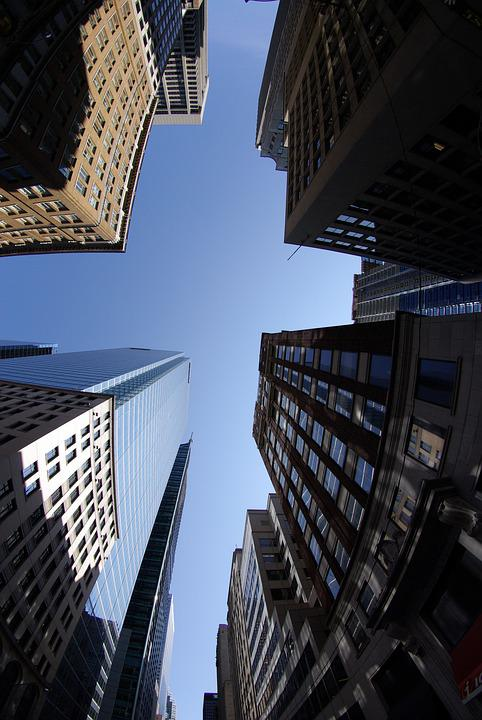 Toronto, Financial District, Tall, Buildings, Sky